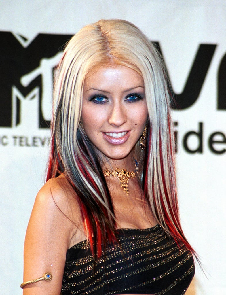 Christina Aguilera Hair Evolution Popsugar Latina