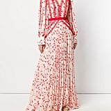 Self-Portrait Crescent Print Maxi Dress
