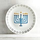 Hanukkah Menorah Porcelain Salad Plate ($6, originally $8)