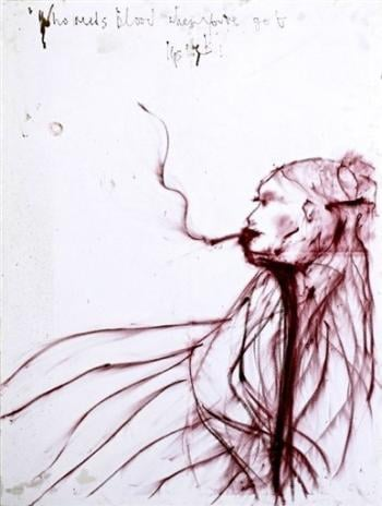 Kate Moss Lipstick Art Sells for $61,800