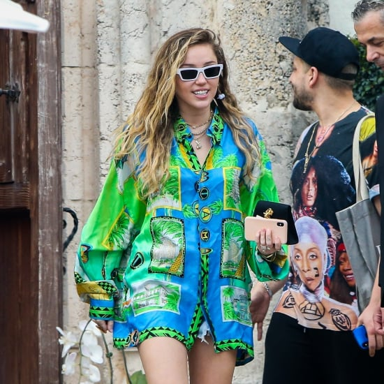 Miley Cyrus Hawaiian Shirt at Versace Mansion January 2019