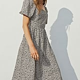 H&M Puff-Sleeved Cotton Dress