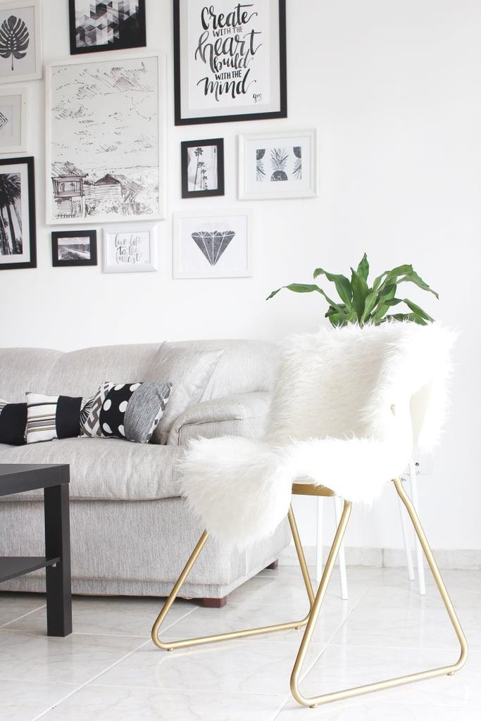 Faux Fur & Gold Chair