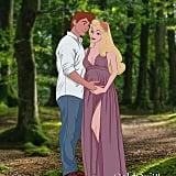 Pregnant Aurora and Prince Philip