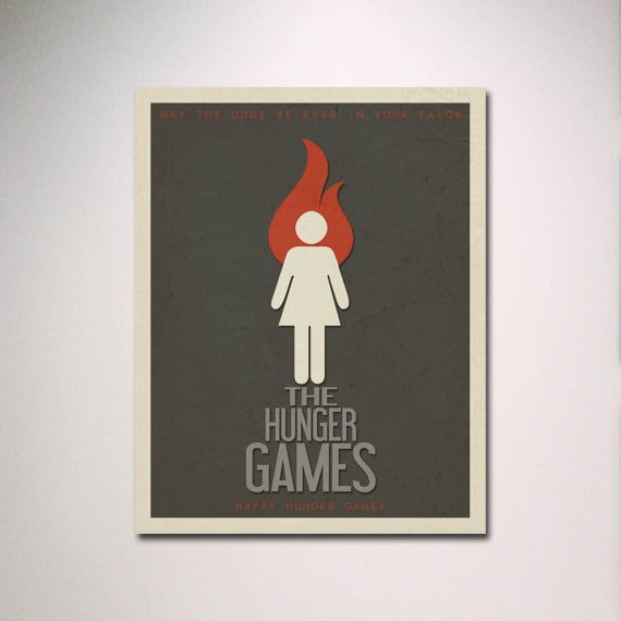 The Hunger Games Minimalist Movie Poster ($15)