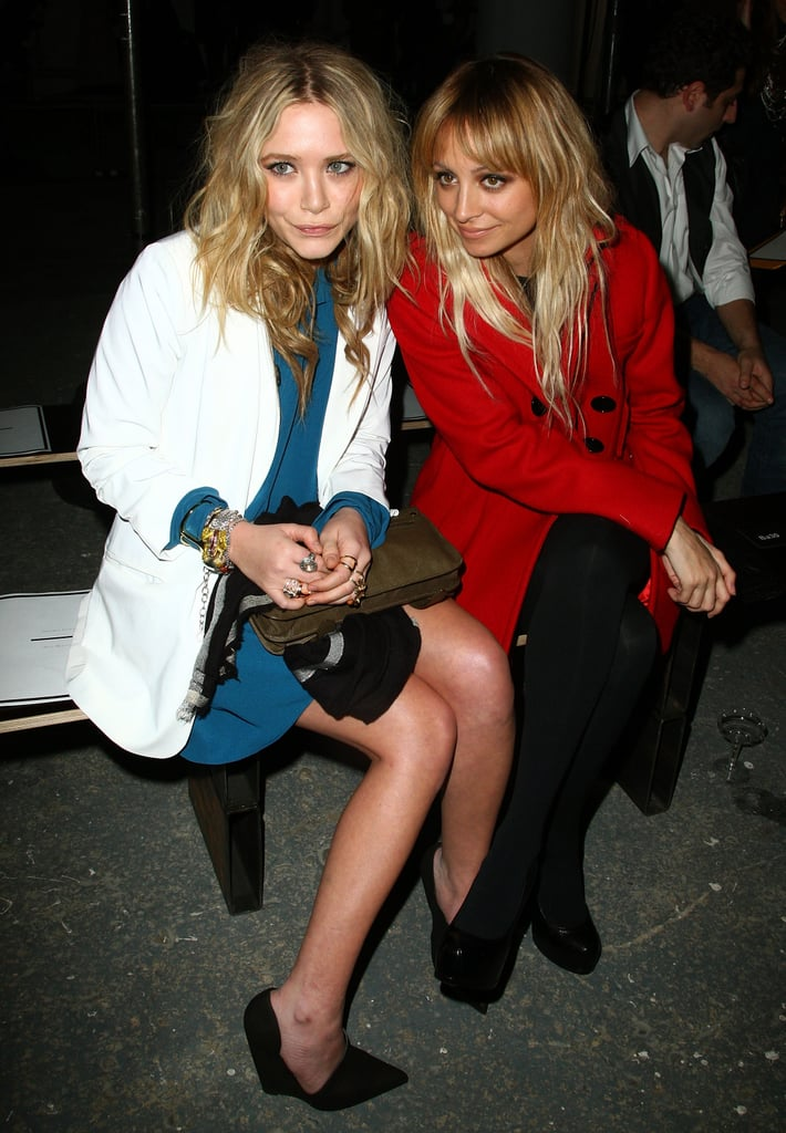 Mary-Kate Olsen and Nicole Richie attended the Proenza Schouler show during NYC's Mercedes-Benz Fashion Week in February 2009.