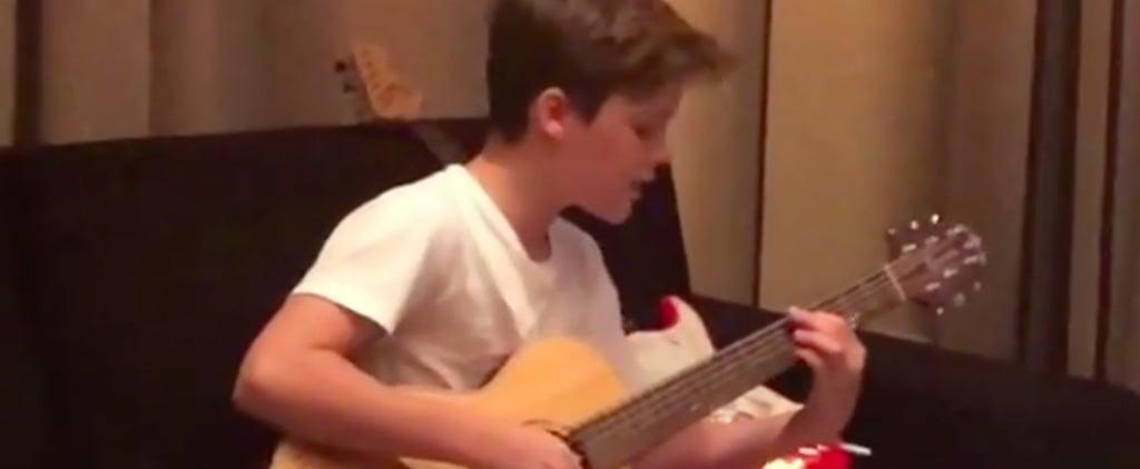 Victoria Beckham Shares Video of Cruz Singing Justin Bieber