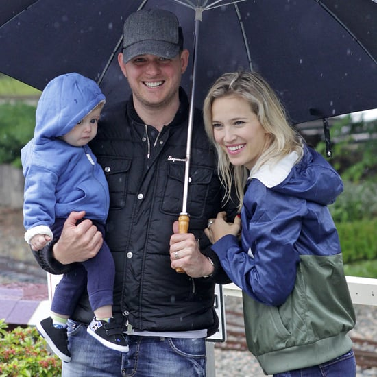 Michael Buble With Noah and Luisana Lopilato on Father's Day