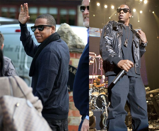 Photos of Jay-Z Arriving at a Radio One Interview in London