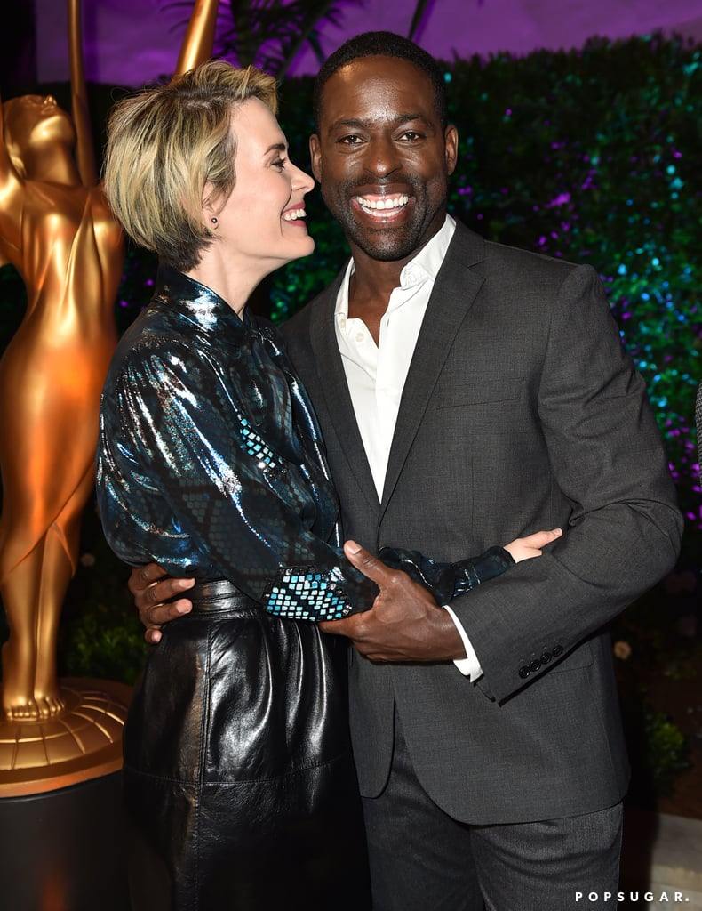 "Sterling K. Brown and Sarah Paulson starred together in American Crime Story: The People v. O.J. Simpson, but their relationship goes far beyond the FX show. The two first met on set and quickly developed a friendship. ""People would tell us while we were shooting that we had great chemistry, and I account that to the fact that I'm a very inquisitive person, Sarah is a very open person, and we just started talking from the beginning,"" Sterling told E! News in July 2016. ""You can't really fake chemistry, either you have it or you don't, and you can't have a relationship on screen if you don't have one off screen. I love Sarah Paulson. I absolutely adore her. My wife has given me full permission to love Sarah Paulson, and I look forward to doing that for the rest of my life.""       Related:                                                                                                           10 Times Milo Ventimiglia and Sterling K. Brown Acted Like Father and Son IRL               In addition to their cute quotes about each other, the pair always seem to have the best time at award shows and are constantly giving each other sweet shout-outs on Twitter. We're celebrating their friendship by taking a look at some of their best moments together."