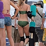 AnnaLynne McCord walked around in knee pads and a bikini.