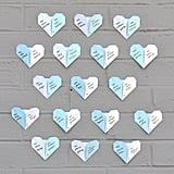 Origami Heart Escort Cards