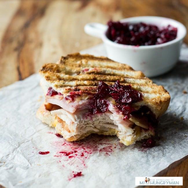 Turkey Panini With Gruyère and Cranberry Sauce