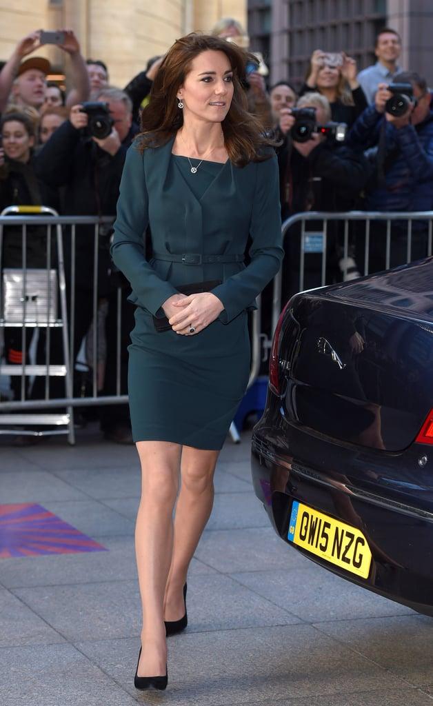 The Duchess of Cambridge Wearing Green L.K.Bennett Suit