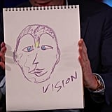 Paul Bettany's Drawing of Vision
