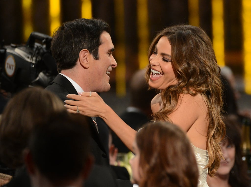 Sofia Vergara and Ty Burrell celebrated their Modern Family win in the audience.