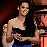 Kristen Stewart made her way to her seat on The Tonight Show With Jay Leno.