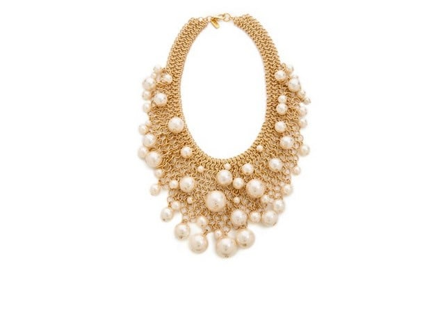 Kenneth Jay Lane Cascading Faux Pearl Necklace ($120)