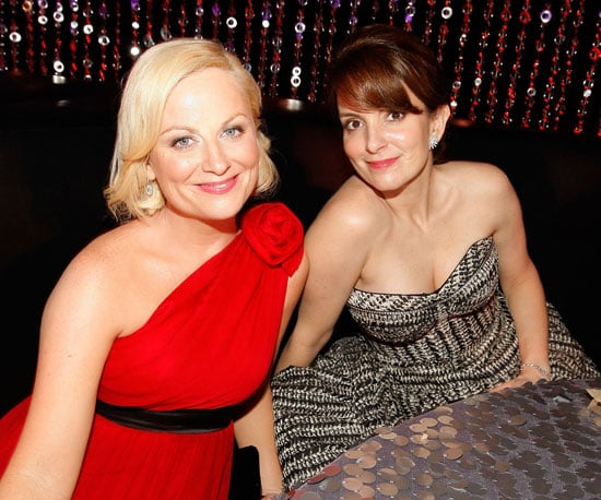 Slide Photo of Amy Poehler and Tina Fey at Golden Globes Afterparty