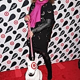 Diane von Furstenberg posed with Target's famous canine.