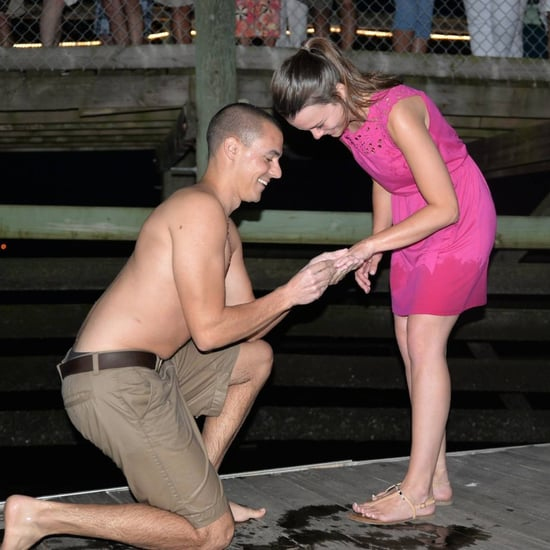 Proposing Guy Drops Engagement Ring in the Ocean