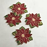 Beaded Poinsetta Coasters ($20 for a set of four)