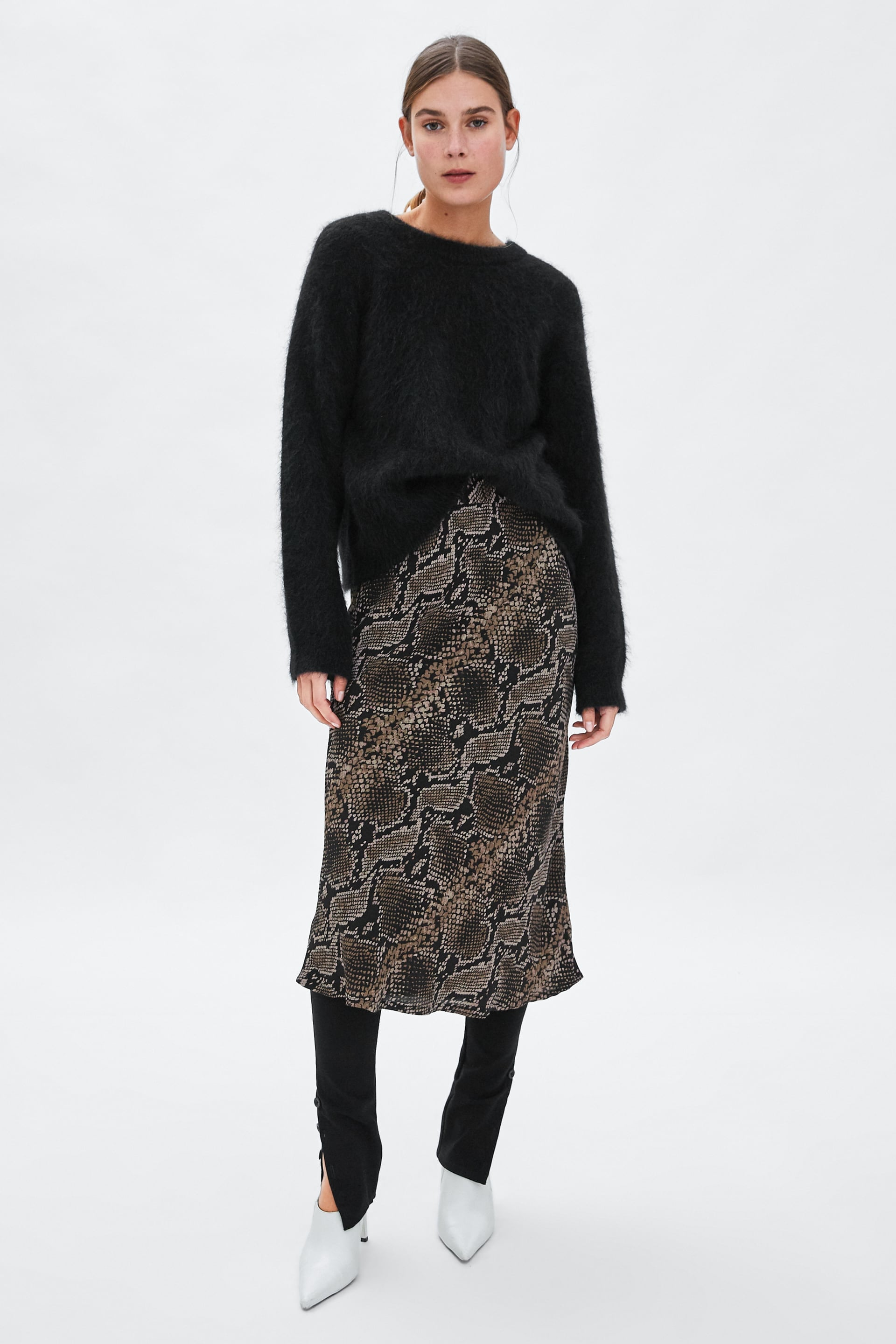 outlet store new season reputable site Zara Snakeskin Print Skirt | Queen Letizia's Zara Skirt Only ...