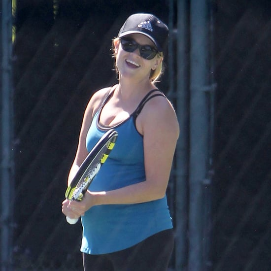 Pregnant Reese Witherspoon Playing Tennis Pictures