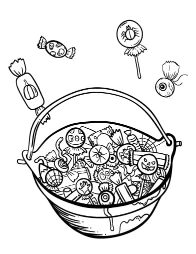 Basket of Candy Printable