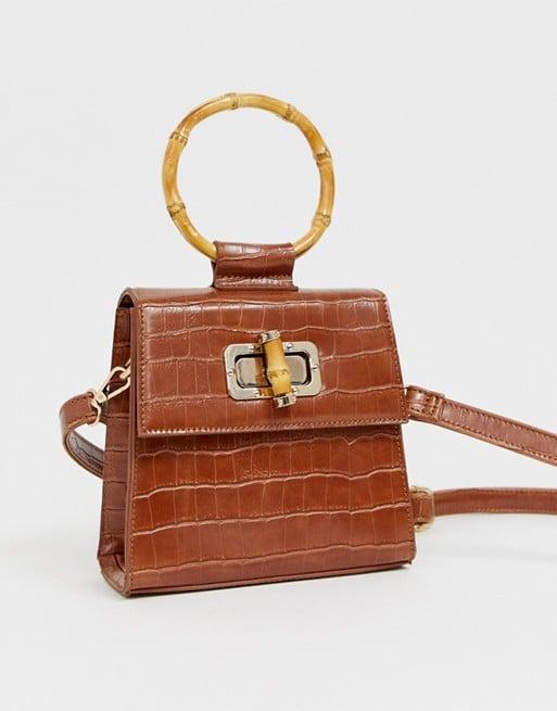 ASOS Liars & Lovers Cognac Mock Croc Mini Bag