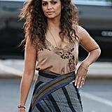 Camila Alves's Wrap Skirt July 2016