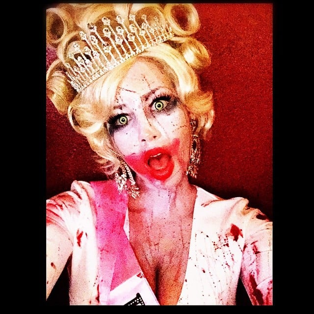 In 2014, Amber Rose took to Instagram and shared a scary snap of her as a zombie bachelorette.