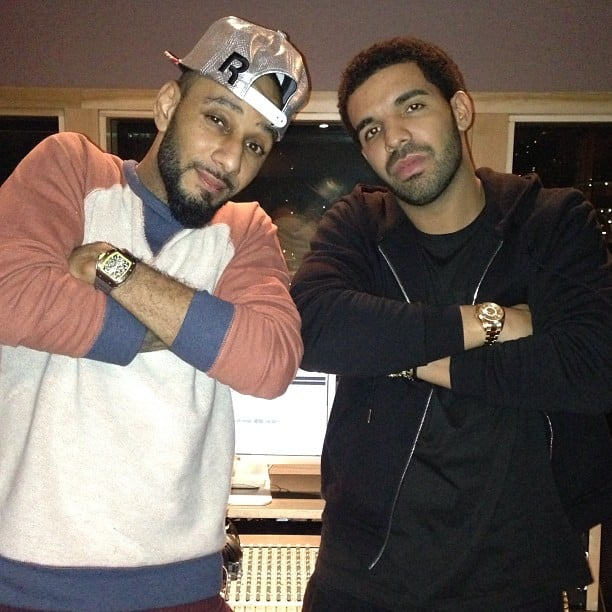 Swizz Beatz and Drake hit the studio together. Source: Twitter user THEREALSWIZZ