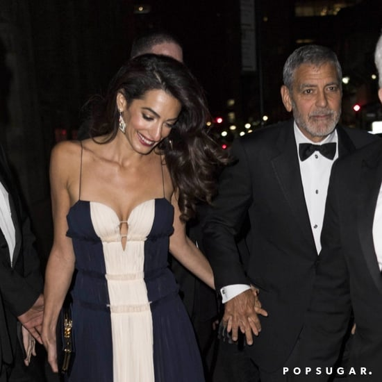 George and Amal Clooney at the 2018 UNCA Awards