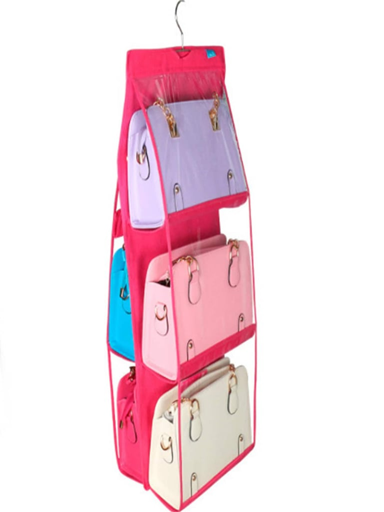 Neon Pink Double Sided Clear Hanger Storage Bag