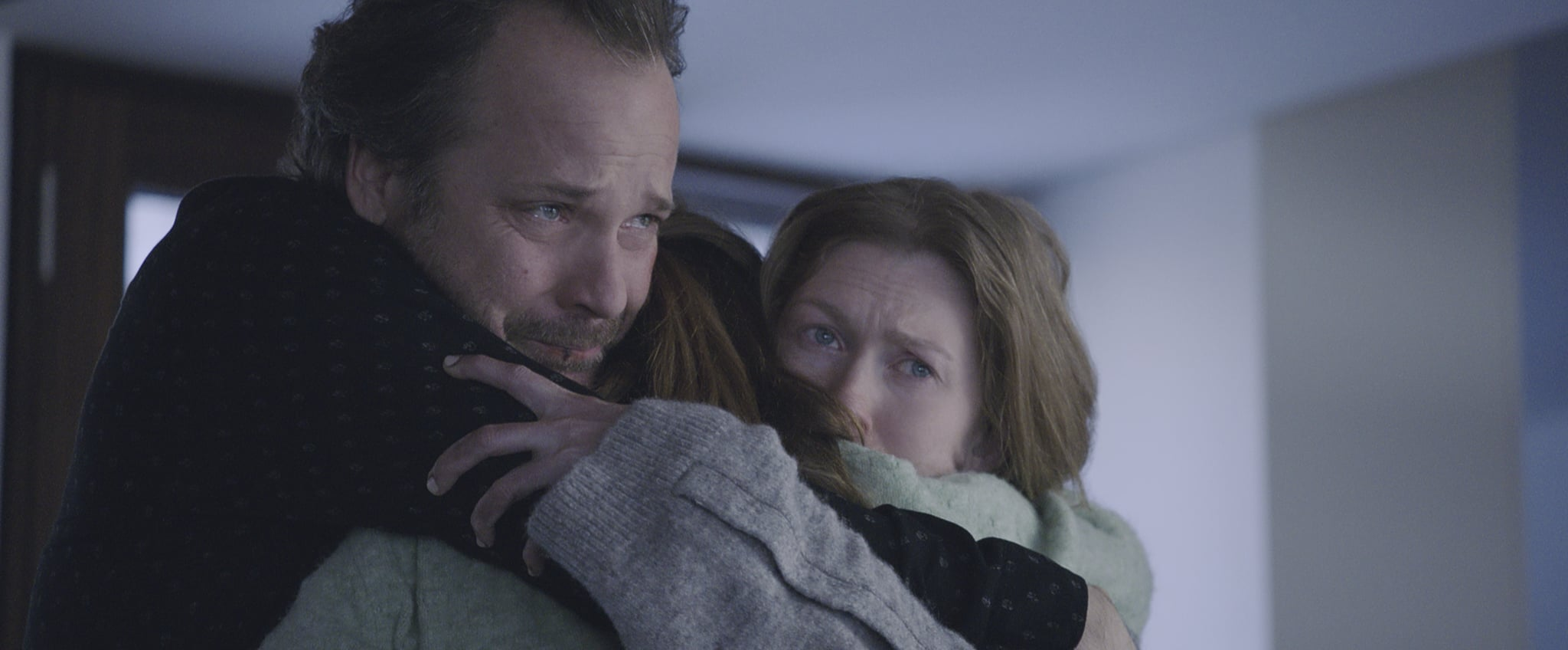 Peter Sarsgaard as Jay, Joey King as Kayla, and Mireille Enos as Rebecca in THE LIE