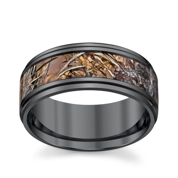 Zirconium Comfort Fit Wedding Band ($495)