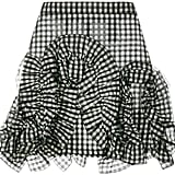 MSGM Gingham Ruffle Mini Skirt