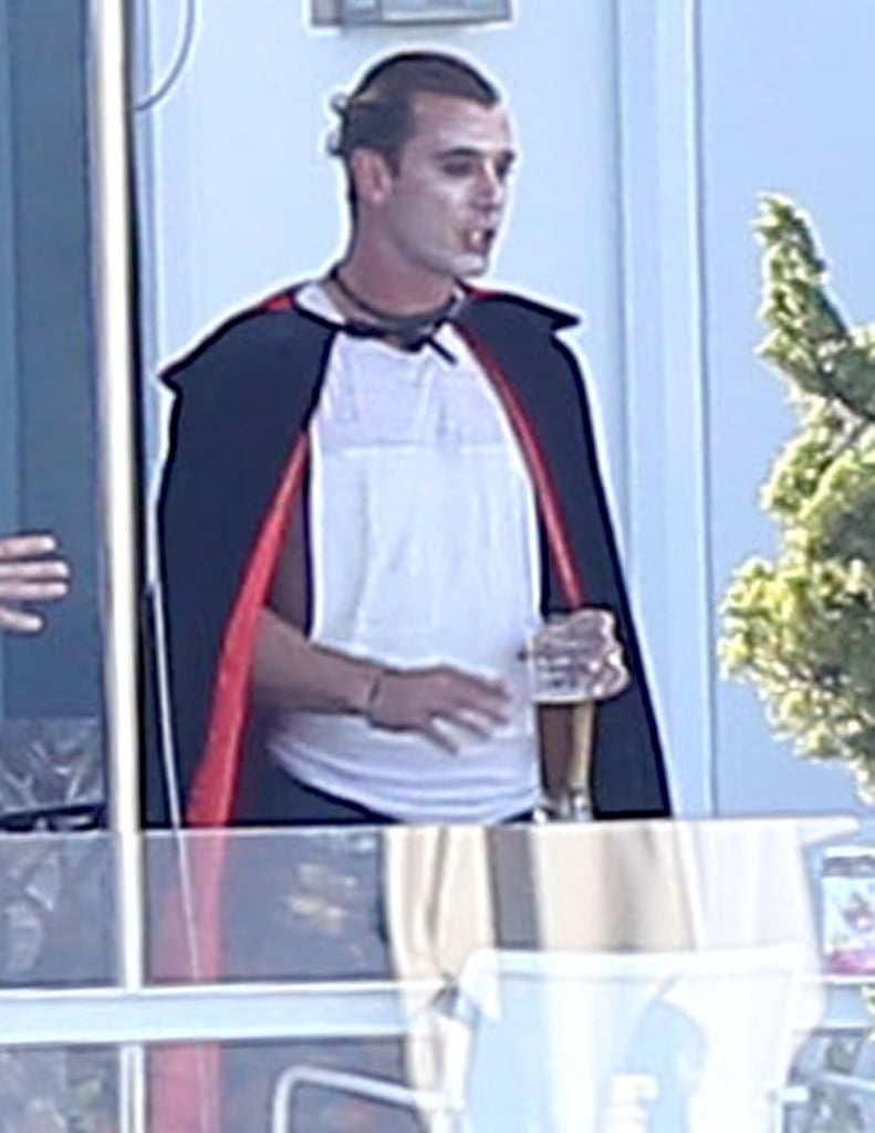 Gavin Rossdale wore a Dracula costume to celebrate Halloween at a party at his LA home in 2012.