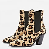 Topshop Morty Leopard Print Ankle Boots