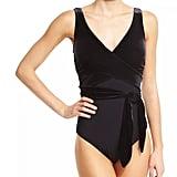 Karla Colletto Victoria Velvet Surplice One-Piece Swimsuit