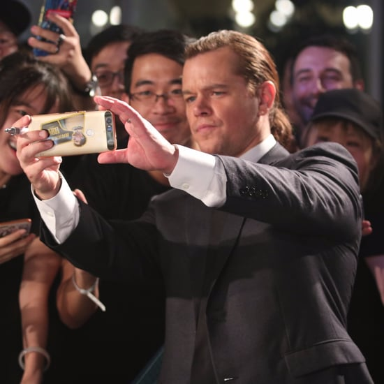 Matt Damon's Man Bun at Jason Bourne Premiere in China