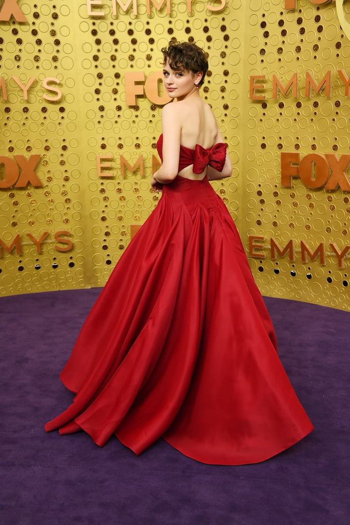 Joey King Wearing a Zac Posen Dress