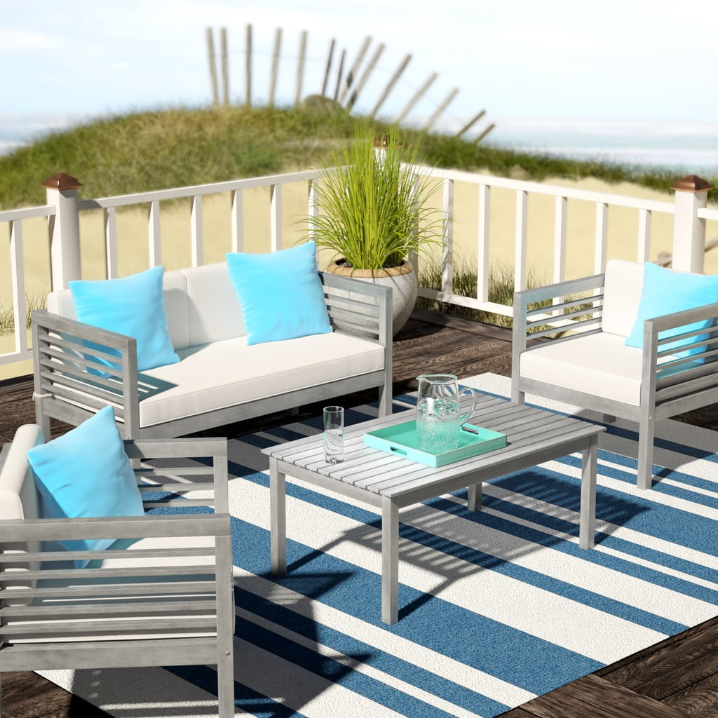 Daytona 4 Piece Sofa Seating Group with Cushions