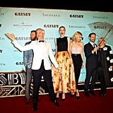 The stars of The Great Gatsby (from left, Joel Edgerton, Elizabeth Debicki, Carey Mulligan and Tobey Maguire) joined director Baz Luhrmann and his costume-designer wife Catherine Martin for a fun photo at the Sydney premiere of the epic movie on May 22.