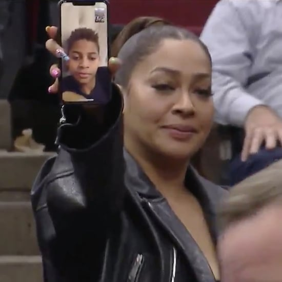 Carmelo Anthony FaceTimes With Son During Basketball Game