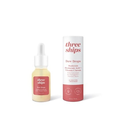 Three Ships Dew Drops Mushroom Hyaluronic Acid + Vitamin C Serum