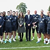 William and Kate With the England Men's Football Team