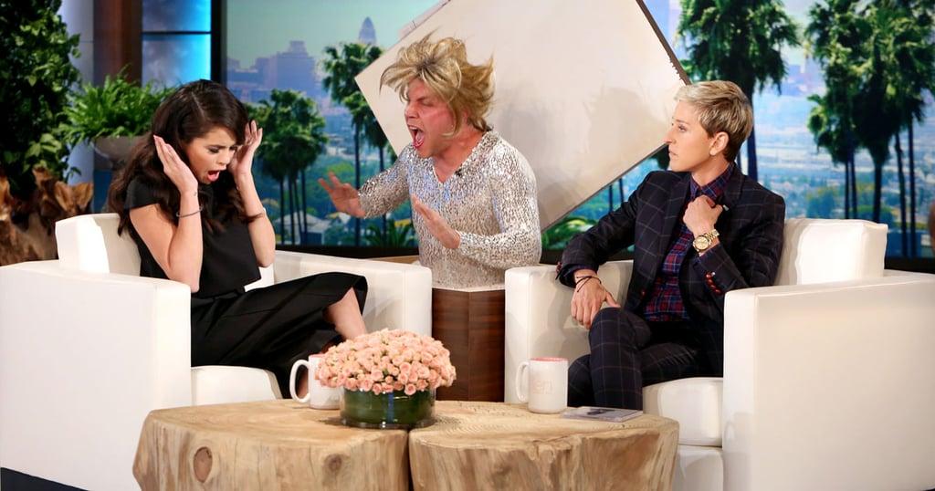 Selena Gomez Scares on The Ellen DeGeneres Show
