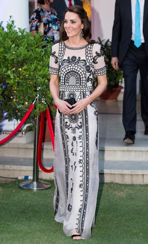 Wearing Alice Temperley in India in April 2016.